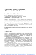 5.2  Assessment of Swelling Deformation of Unsaturated Kaolinite Clay