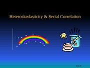 heteroskedasticity & serial correlation-sport