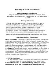 Copy of U1: Slavery in the Constitution.docx