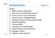 Lesson 7 - Dividend Policy