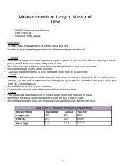 L1 Measurements of Length, Mass and Time .docx
