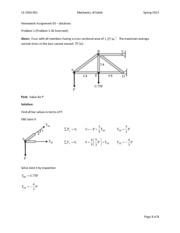 HW #3 Solutions