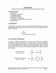 Carbocation OrganicChem