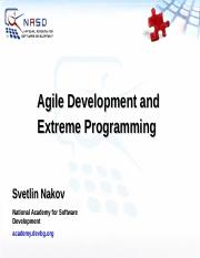 Agile-Methodologies-and-Extreme-Programming-Svetlin-Nakov