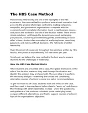 The HBS Case Method
