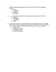 Sample Test Questions for Test 1