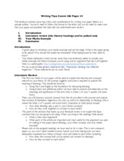 COMM 206 - Writing Tips - Paper #1