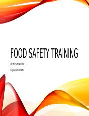 Unit 9 - Food Safety Training.pptx
