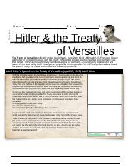 Hitler and the Treaty of Versailles-Student-1.docx