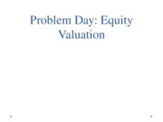 Problem Day Equity Valuation Blackboard