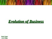 Evolution of Business Powerpoint - Ronie