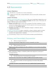 43 Succession Worksheet Answer Key Promotiontablecovers