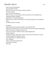 Educ305- Class 6 Notes