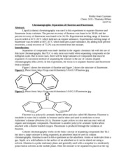 Fluorene and Flourenone Lab Report