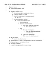 Gov 312L Assignment 1 Notes
