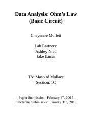 PHYS 141 LAB Report 1a Ohm's Law.docx