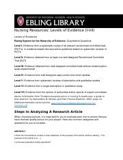 Week 4- LEVELS OF EVIDENCE- EBLING LIBRARY.docx