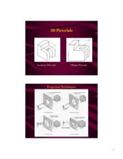 Isometric and Oblique Pictorials