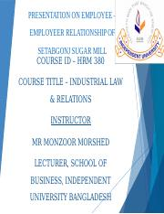 HRM 380 ( Industrial law & Relations) ( Group - Reliance)................................pptx