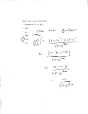Limits and Derivatives Exam Solutions
