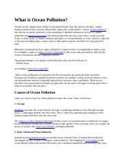 What is Ocean Pollution.docx