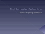 First Semester Reflection American Lit