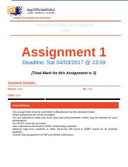 Assignments 1 data