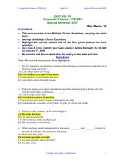 corporate finance assignment solution