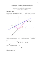 Equations of lines and Planes in3D