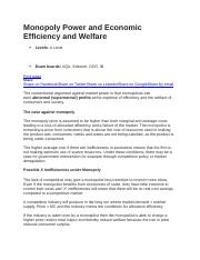 Monopoly Power and Economic Efficiency and Welfare.docx