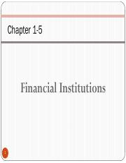 Ch-1 Fianancial Institutions  Introduction 1