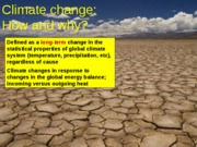 Climate Change - Forcings