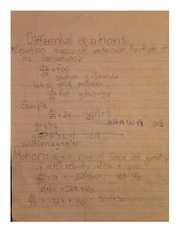 Differential Equations Notes MATH 181