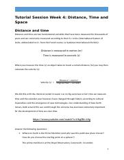 Week 4 Tutorial Session - Space, Time and Distance.docx