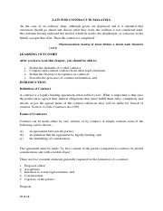 113636_LAW FOR CONTRACT IN MALAYSIA (Notes)