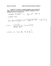Written Homework 14 Solutions