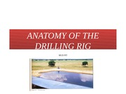 ANATOMY OF DRILLING RIG