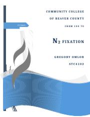 N2 Fixation (Final Project)