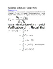Variance Estimator Property