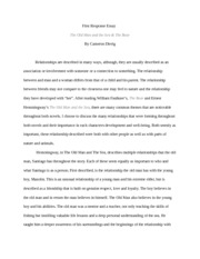 First Response Essay: The Old Man and the Sea & The Bear