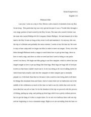 Intro Essay for English 110