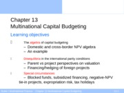 Ed6s 13 Multinational capital budgeting