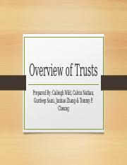 Overview of Trusts [ Final DRAFT]