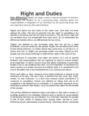 Right and Duties Canadian Charter and United declaration of human rights