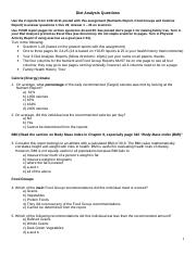 Assignment 4 Diet Analysis Questions w tree_1_(1).doc