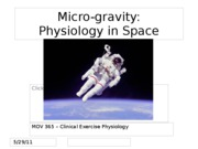 Space physiology lecture (BB)
