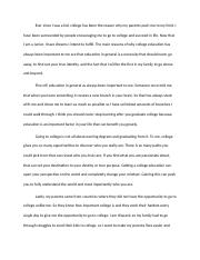 Why College Education Is Important To Me Essay