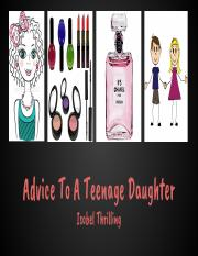 Advice to a teenage daughter