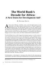Week 13_Horta The World Bank Africa