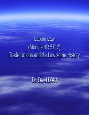 (3) Labour Law and TUs (1)